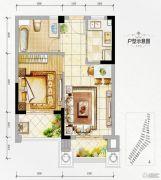 万达西双版纳国际度假区1室1厅1卫50平方米户型图