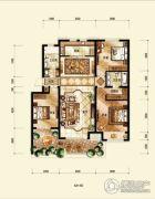 中海国际社区3室2厅2卫128平方米户型图