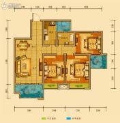 金鸿城三期归谷3室2厅1卫95平方米户型图