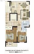 铂金时代2室2厅2卫0平方米户型图