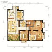 东方希望天祥广场天荟3室2厅2卫121平方米户型图