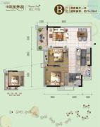 美林湖国际社区2室2厅1卫75--79平方米户型图