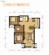 融创天朗南长安街壹号3室2厅1卫98平方米户型图
