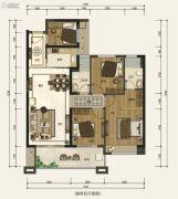 嘉和冠山海4室2厅2卫98平方米户型图