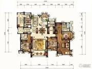 华润公元九里4室3厅3卫286平方米户型图