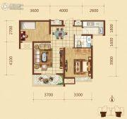 锦绣文华2室2厅1卫76平方米户型图