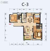 福星惠誉东湖城2室2厅2卫113平方米户型图