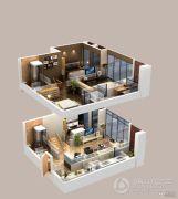 北大资源梦想城公寓2室2厅2卫0平方米户型图