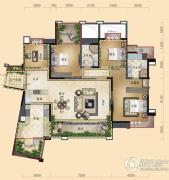 三利云锦4室2厅2卫164平方米户型图
