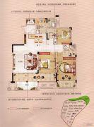 香江帝景3室2厅2卫130平方米户型图