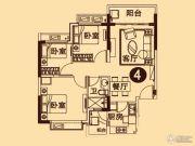 无锡恒大城3室2厅1卫94平方米户型图