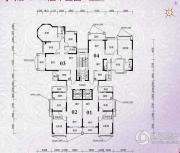 锦绣国际花城3室2厅2卫81平方米户型图