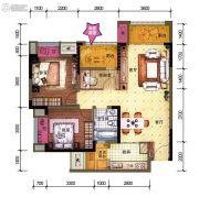 中昂星汇2室2厅1卫0平方米户型图