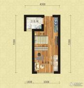 东方今典中央城1室1厅1卫37平方米户型图