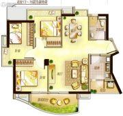 万科里享水韵3室2厅2卫117平方米户型图