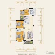 水岸欧韵3室2厅2卫83平方米户型图
