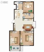 逸城山色3室2厅1卫93平方米户型图