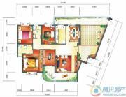 华业临海4室2厅2卫200平方米户型图
