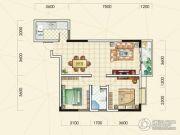 中观国际2室2厅1卫83平方米户型图