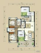 丽港华府4室2厅3卫153平方米户型图