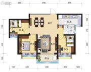 兰州碧桂园3室2厅1卫106平方米户型图