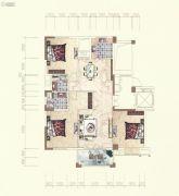 霞浦东方绿城3室2厅2卫127平方米户型图