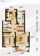 唐轩北廷2室2厅1卫82平方米户型图