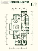 富力城・八号园3室2厅3卫258平方米户型图