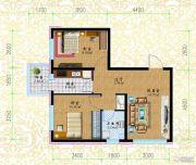 黎明荣府2室1厅1卫48平方米户型图