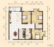 昊天大厦二期3室2厅2卫113平方米户型图