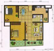 郧阳国际园2室2厅2卫90平方米户型图