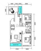 千翔尚城3室2厅1卫98平方米户型图
