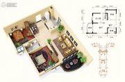 碧桂园十里银滩2室2厅1卫97--99平方米户型图
