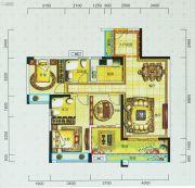 宝安・山水龙城3室2厅2卫104平方米户型图