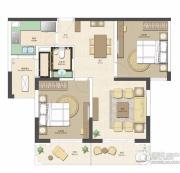 合生财富海景公馆2室2厅1卫0平方米户型图