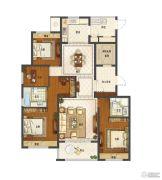 保利中央公馆4室2厅2卫140平方米户型图