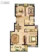 松江颐景园3室2厅1卫89平方米户型图