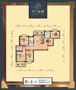 柳岸春城4室2厅2卫123平方米户型图