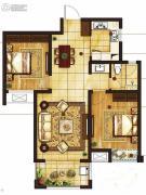 吴中豪景华庭2室2厅1卫93平方米户型图