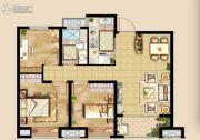 中洲里程3室2厅1卫89平方米户型图