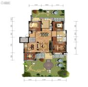 金地檀悦4室2厅2卫145平方米户型图