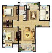 阳澄尚东2室2厅1卫91平方米户型图