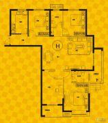 恒生・光合城4室2厅2卫154平方米户型图