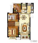 保利堂悦3室2厅1卫88--93平方米户型图