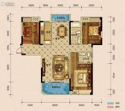 半山�庭3室2厅2卫135平方米户型图