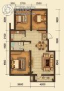 中鸿基名都3室2厅1卫100平方米户型图