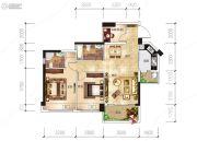 越亚天赐良园3室2厅2卫86平方米户型图
