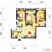 凯隆橙仕公馆2室1厅1卫96平方米户型图