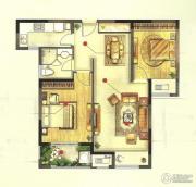 高成天鹅湖2室2厅1卫88平方米户型图