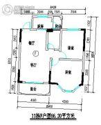 君尚一品小区二期2室2厅1卫86平方米户型图